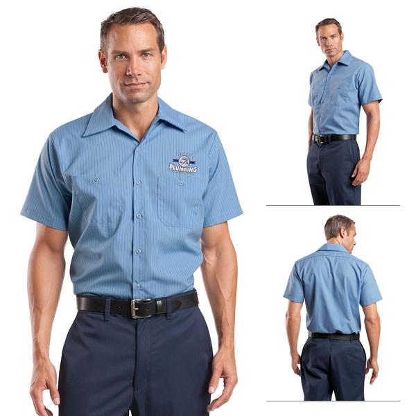 5e73e99db3 Customized Red Kap CS20 Short Sleeve Striped Industrial Work Shirt