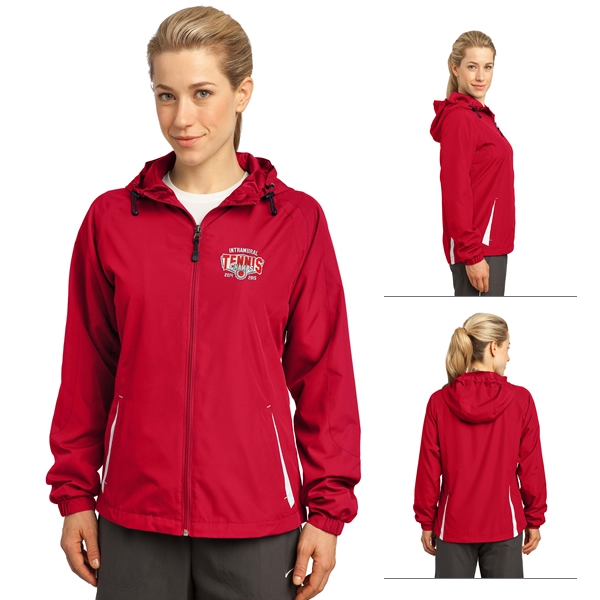 45bfc941 Sport Tek LST76 Ladies Colorblock Hooded Jacket