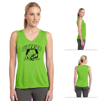 Customized Sport-Tek LST352 Ladies Sleeveless Competitor V-Neck Tee