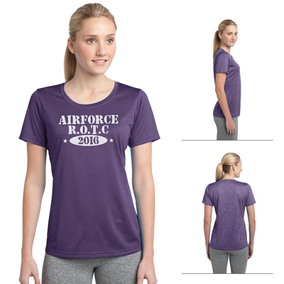 Customized Sport-Tek LST360 Ladies Heather Contender Scoop Neck Tee
