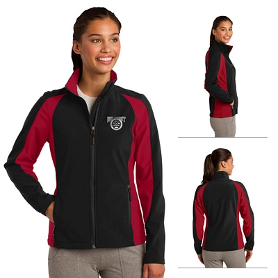 Customized Sport-Tek LST970 Ladies Colorblock Soft Shell Jacket