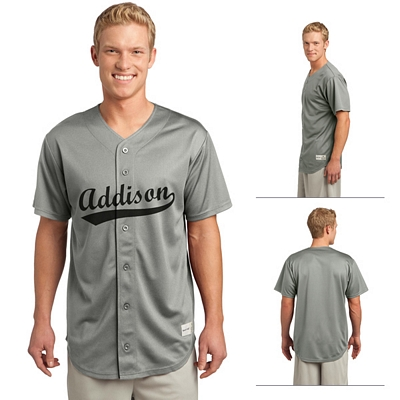 bfdba3a25 Sport tek posicharge tough mesh full button jersey screen jpg 400x400 Button  jersey shirts