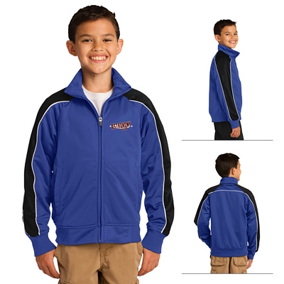 Customized Sport-Tek YST92 Youth Piped Tricot Track Jacket