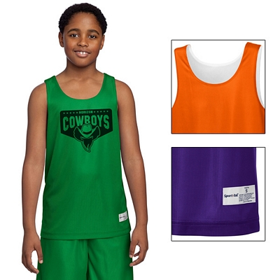 Customized Sport-Tek YT550 Youth PosiCharge Mesh Reversible Tank
