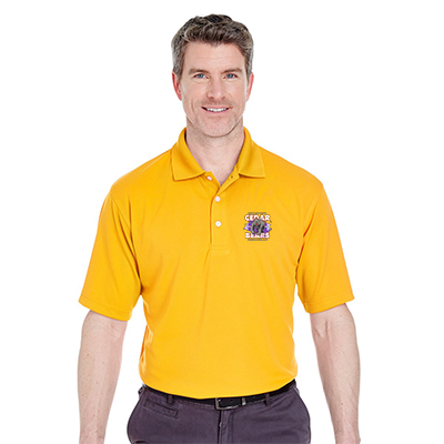 Customized UltraClub 8445 Adult Cool & Dry Stain-Release Performance Polo