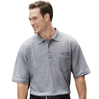 Customized UltraClub 8534 Adult Classic Pique Polo with Pocket