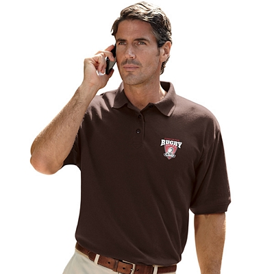 Customized UltraClub 8540T Men's Tall Whisper Pique Polo