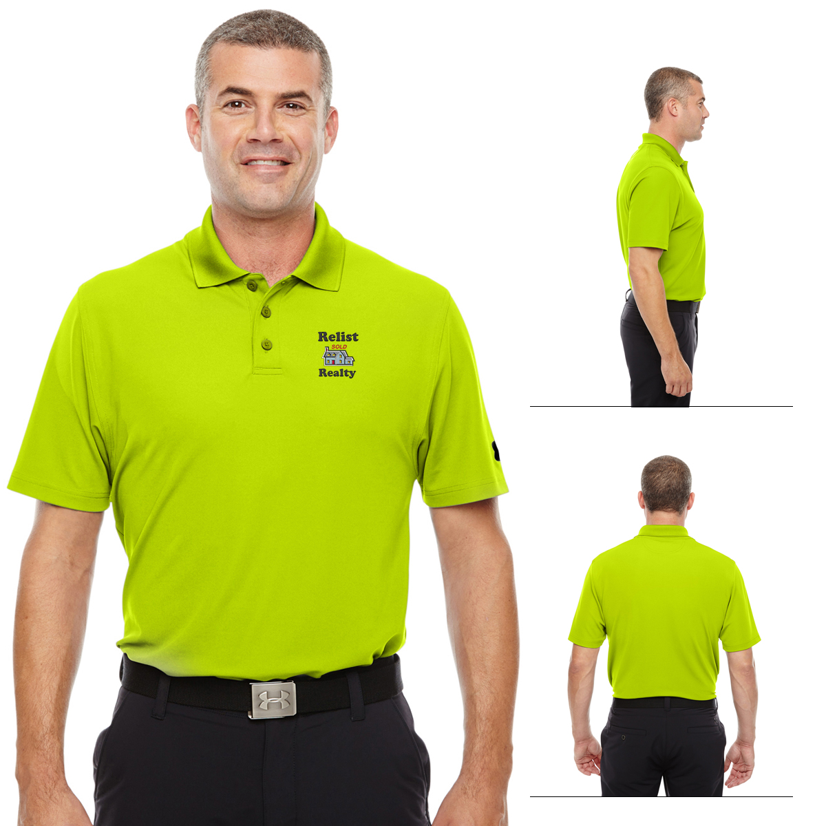 Customized under armour men 39 s corp performance polo for Under armor business shirts