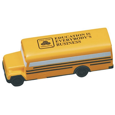 Promotional Conventional School Bus Stress Reliever