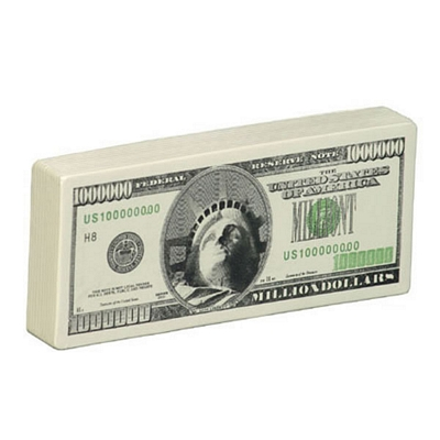 Promotional Million Dollar Bill Stress Reliever