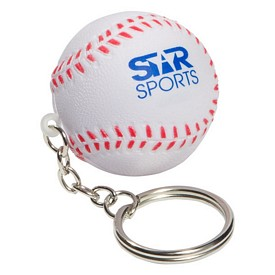 Customized Baseball Key Chain Stress Reliever