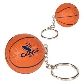 Custom Basketball Key Chain Stress Reliever