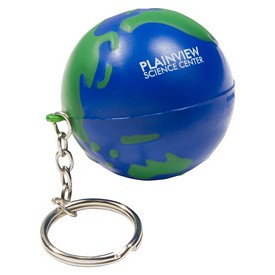 Customized Earthball Key Chain Stress Reliever