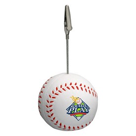 Customized Baseball Memo Holder Stress Reliever