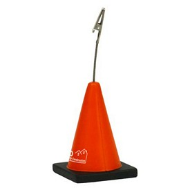 Promotional Construction Cone Memo Holder Stress Reliever