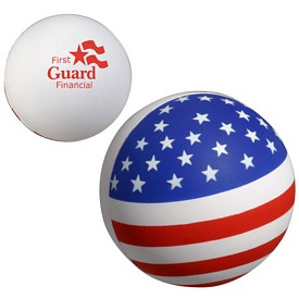 Promotional Patriotic Stress Ball Stress Reliever