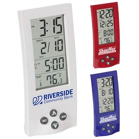 Promotional Tower Time Temp Clock