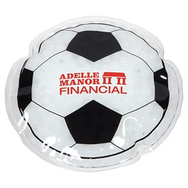 Custom Soccer Ball Hot-Cold Pack