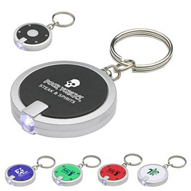 Custom Round Simple Touch Led Key Chain