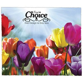 Promotional Premium Microfiber Cleaning Cloth Flowers