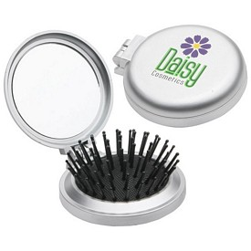 Custom Travel Disk Brush Mirror