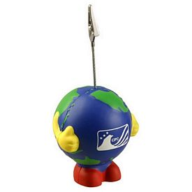 Promotional Earthball Man Memo Holder Stress Reliever