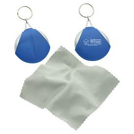 Custom Pocket Microfiber Lens Cloth Key Chain