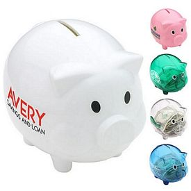 Promotional Plastic Piggy Coin Bank