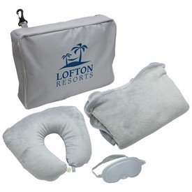 Customized 3-Piece Travel Pillow Blanket Set