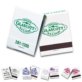 Customized 20 Strike White Matchbooks
