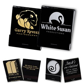Promotional 20 Strike Reverse Foil Metallic Matchbooks
