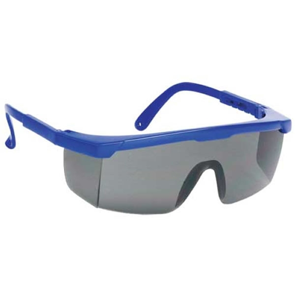 Customized Large Blue Frame Single-Lens Safety Glasses ...