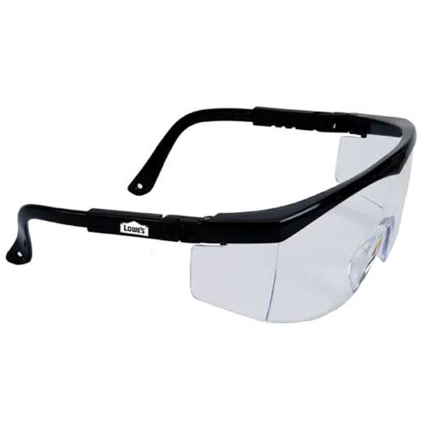 promotional large single lens clear safety glasses with