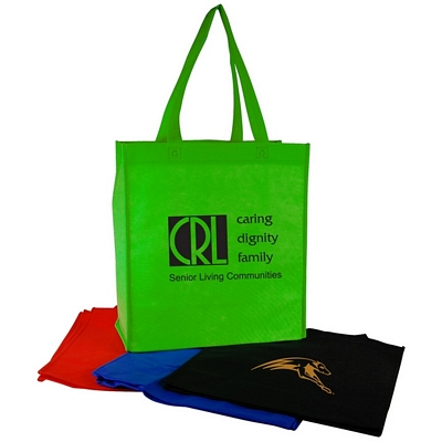 Customized Vertical Nonwoven Shopping Tote Bag