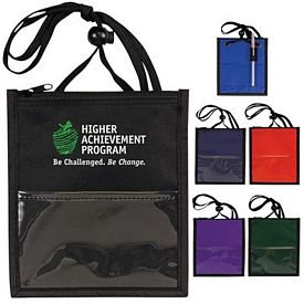 Promotional Convention Neck Wallet-Badge Holder