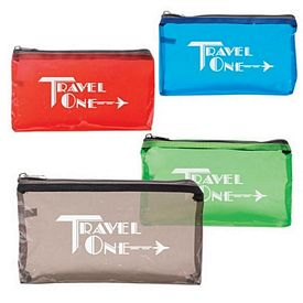 Custom Tinted Clear Traveling Pouch