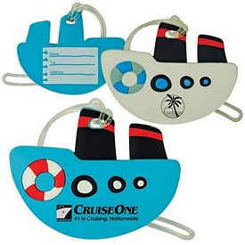 Custom Boat Shaped Soft Pvc Luggage Tag