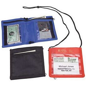 Promotional Bi-Fold Neck Wallet