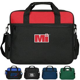 Custom Assistant Two Tone Polyester Briefcase