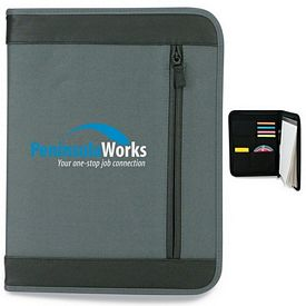 Promotional Zippered Closure Portfolio