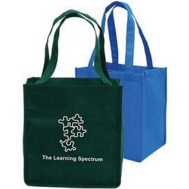 Promotional Grocery Non-Woven Full Gusseted Shopping Tote Bag