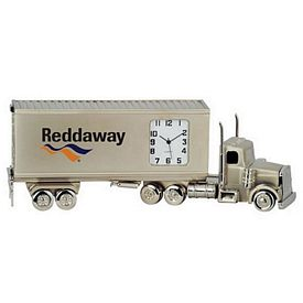 Customized Container Truck Metal Quartz Clock