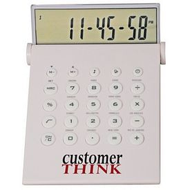 Customized Desktop Calculator-World Time Alarm Clock In One
