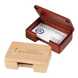 Customized Wood Business Card Holder