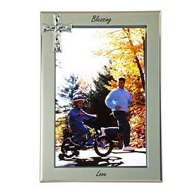Custom Cross Metal Picture Frame 5 X 7