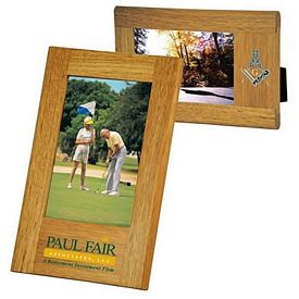 Promotional Wide Border Natural Wood Frame 4 X 6