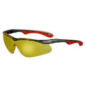 Custom Premium Sports Style Amber Lens Safety Glasses