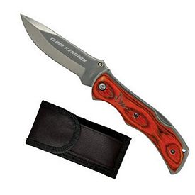 Promotional Premium Lock Back Wood Handle Pocket Knife