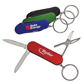 Promotional 4 Function Key Ring Pocket Knife