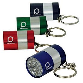 Promotional 9-Led Mini Keychain Flashlight In Display Box